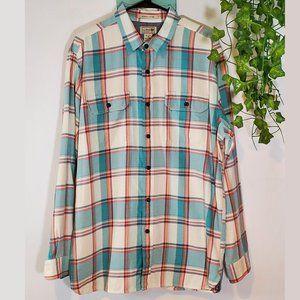 LL Bean Plaid Button Up Shirt